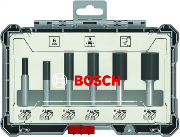 Bosch Professional 6 tlg Nutfräser Set 8mm Schaft (2607017466)