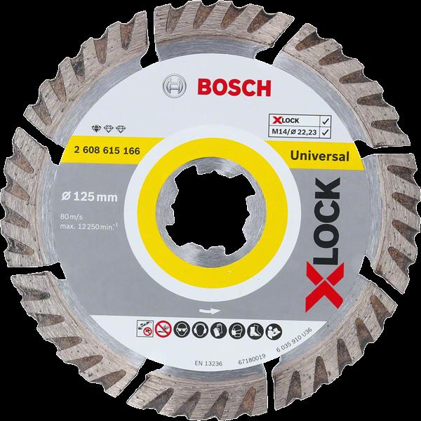 Bosch Professional X-LOCK DIA-TS 125x22,23 Sf. Univ. (2608615166)