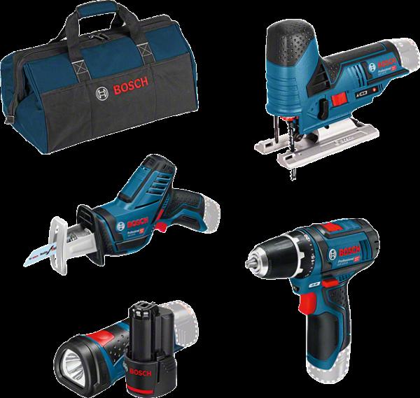Bosch Professional GSR12V-15 + GSA12V-14 + GST12V-70 (0615990M06)