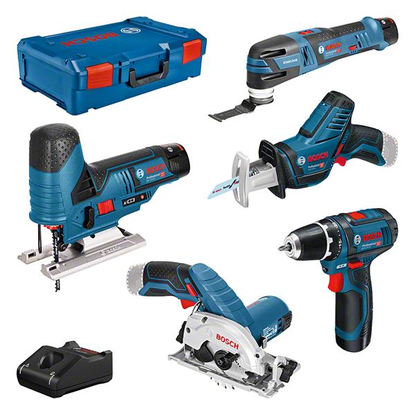 Bosch Professional 12V 5 tool KIT + GBA + GAL + XL-boxx (0615A0017C)