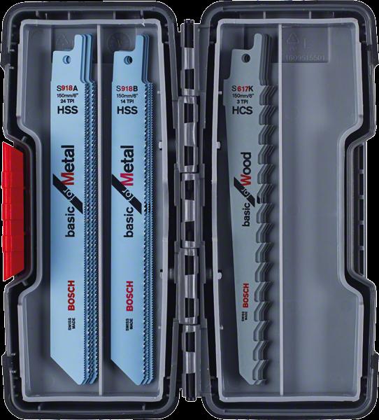 Bosch Professional SSB ToughBox Basic Wood/Metal 15.tlg (2607010901)