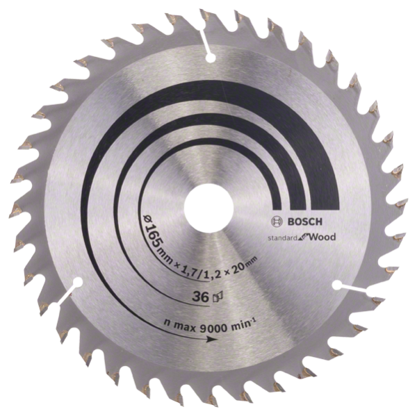 Bosch Professional Kreissägeblatt OP WO H 165x20-36 (2608642602)