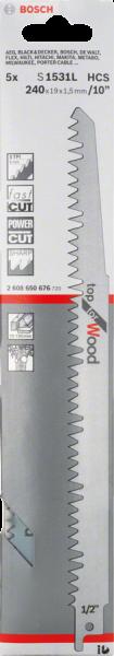 Bosch Professional 5 Säbelsägebl.S 1531 L (2608650676)