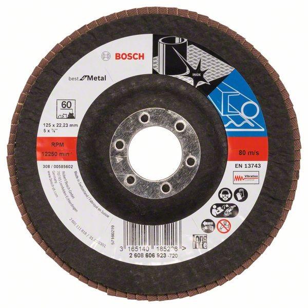 Bosch Professional Faecherschleifscheibe BfM,125mm,K60,1x (2608606923)