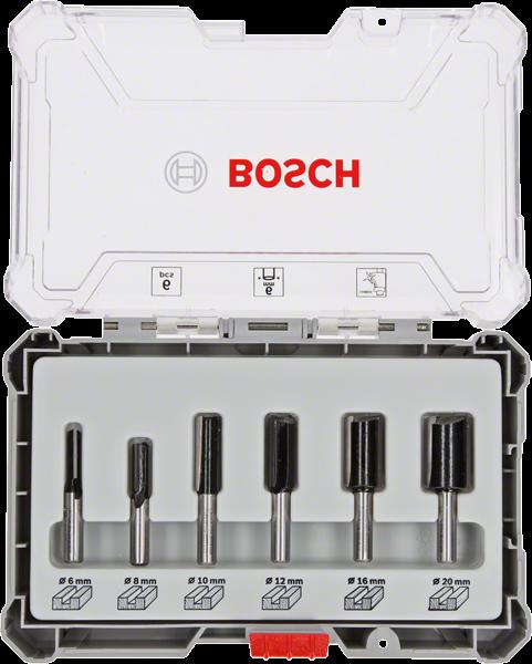 Bosch Professional 6 tlg Nutfräser Set 6mm Schaft (2607017465)